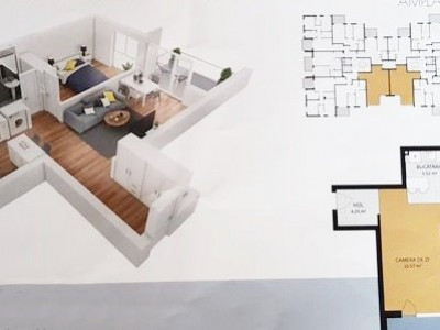 Apartament 2 camere 50mp Bloc Nou Grand Hotel Italia